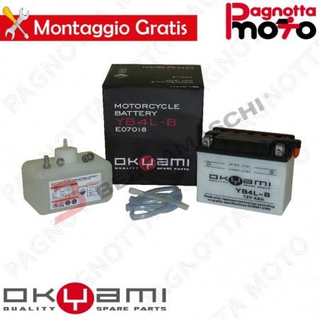 BATTERIA OKYAMI YB4L-B CON ACIDO PRECARICATA FANTIC MOTOR HP1 125
