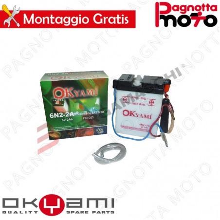 BATTERIA OKYAMI 6N2-2A CON ACIDO PRECARICATA ITALJET COYOTE 125