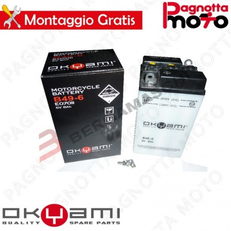 BATTERIA OKYAMI B49-6 C/ACIDO MOTO MORINI TURISMO 175
